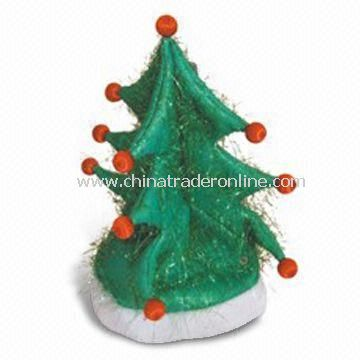 Christmas Tree Hat with light, Made of Optical Fiber, Available in Various Colors