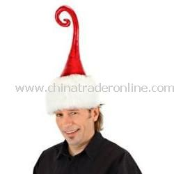 Curly Q Santa Hat