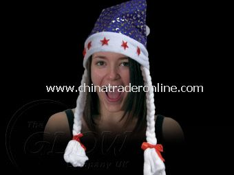 FLASHING SANTA HAT