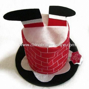Xmas Hat, Made of Felt, Measures 7.5-inch