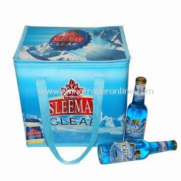 24-can/12-bottle Promotional Cooler Bag, Available in Various Sizes, Customized Designs are Accepted