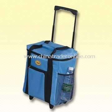 36-Can Trolley Cooler Bag with Made of 70D Nylon