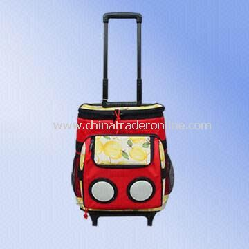 420D/PVC Trolley Cooler Bag with Backpack Shoulder Strap