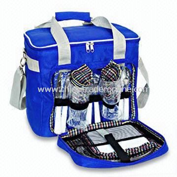 Picnic Cooler Bag with Spoon Cutlery and Forks