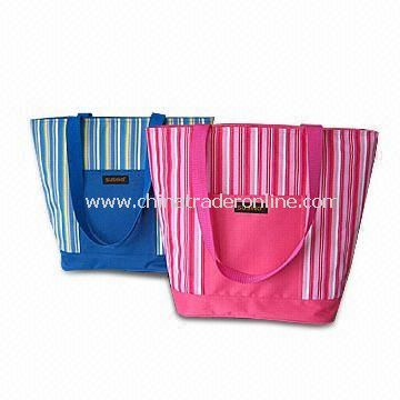 Striped Cooler Bag, Made of Polyester 300D