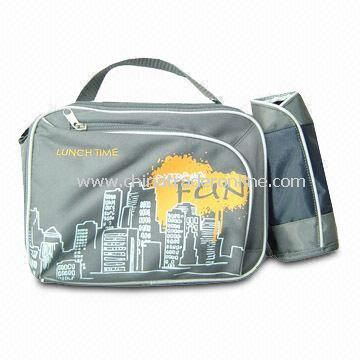 Stylish Printed Cooler Bags With Bottle Bag, Top Carry Handles, Available in Various Colors and Size