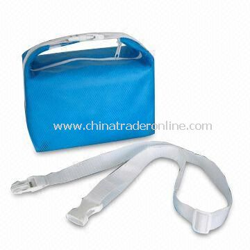 100gsm PP Nonwoven Cooler Bag with EPE Wrapped Lining, Available in Blue