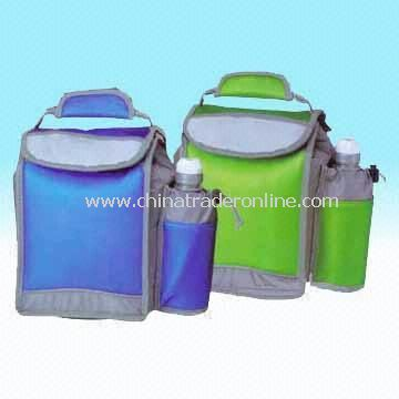 420D Fabric Cooler Bag with Insulated Bottle Holder