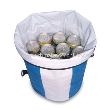 Cooler Bag for 24 Cans, Made of PVC and Tar Material