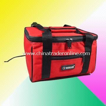 Typical Neoprene Cooler Bag with Zipper Pockets on Front