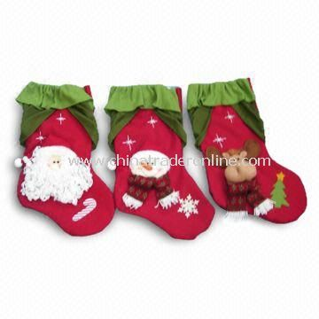 21-inch Red/Green Christmas Stockings