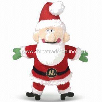 Christmas Santa Claus Toy, 100% Original Design with Good Craft, Made of Plush Fabric