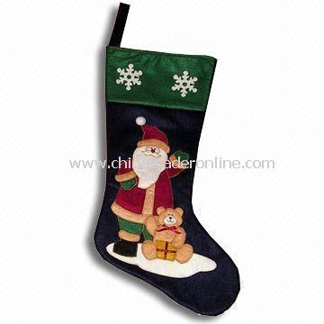 Christmas Socks with Embroidered Patch, Used for Homespun Fabric, Room Ornaments and Clothes