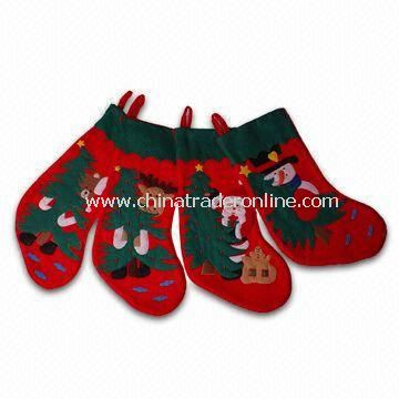 Felt and 100% Polyester Embroidery Stocking, Measures 19 Inches
