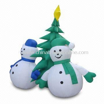 Inflatable Christmas Decoration with Snowman Design and 2m Height