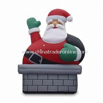 Inflatable Santa Claus for Christmas Decoration, Measuring 2 to 8m from China