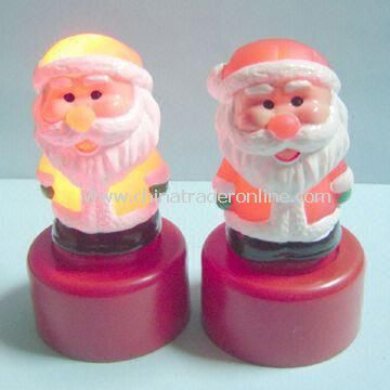 Light-up Santa Claus, Suitable for Christmas Gift, Measuirng 4.5 x 8cm