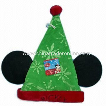 Plush Christmas Hat with EN71 Certification, Available in Size of 39cm