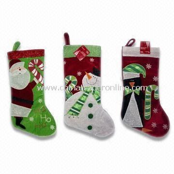 Plush Christmas Stocking, Available in Various Designs, Measures 12 x 12cm, EN71 Certified