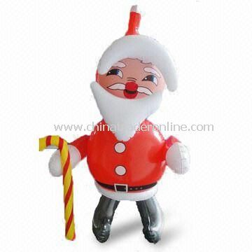 Santa Claus Shaped Inflatable Toy, Made of PVC with 0.13mm Thickness