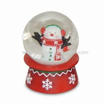 Snow Globe in Cute Design for Xmas, Available in Various Diameters