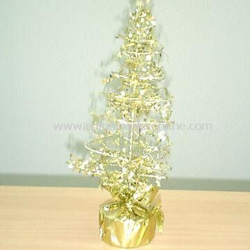 10 MINI STAR TREE Decoration, Material in Metallic PVC Film with RoHS & Non-Phalate