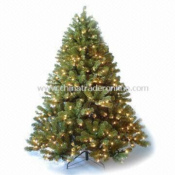 Artificial Washington Pine Pre-lit Christmas Tree with Metal Stand, Various Styles are Available