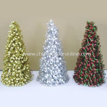 Bubble Cutting Tinsel Cone Tree