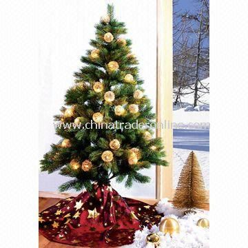 Christmas Tree Design Cloth/Fabric with 1.5cm Hem Sewing from China