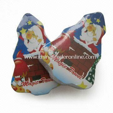 Compressed Cotton Towel in Christmas Tree Shape, Ideal for Promotional Gift