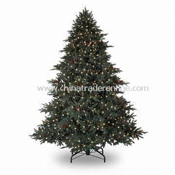 Optical Fiber Christmas Tree with Metal Frame, Extra Bulbs and Fuses, Fast and Easy Set Up