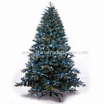 PE Christmas Tree with 276 Pieces White LED Lights and Hook