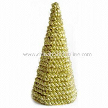 Rope Garland Cutting Tinsel Cone Tree, Suitable for Christmas Decoration