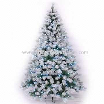 Seven Foot Deluxe Snow Pine Tree With 276 White LED Lights