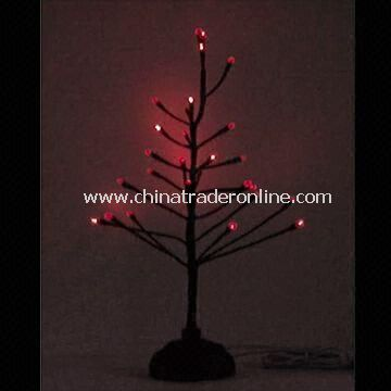 USB Crystal Christmas Tree, Made of Plastic, Works with USB Port and 2 x AA Battery Power