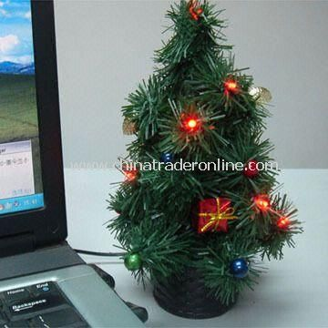 USB Xmas Tree with LED Light, Available in Green from China