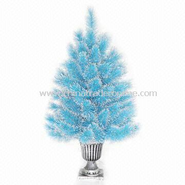 Wrapped Style Artificial Monroe Pine Christmas Tree with Metal Stand