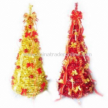 Wrapped Style Artificial Monroe Pine Christmas Trees, Available with Metal Stand