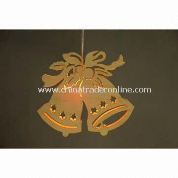 230V Wooden Decor with Light, Available in Bell Design, GS Approval