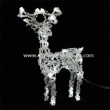 Christmas Deer LED Light with 12.4W Power and 25pcs LED Quantity