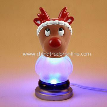 Christmas Gift Elk Design USB Light with 7 LED Colors from China