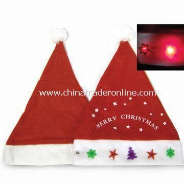 Christmas Hat with Music and Light, Measures 38 x 28cm from China