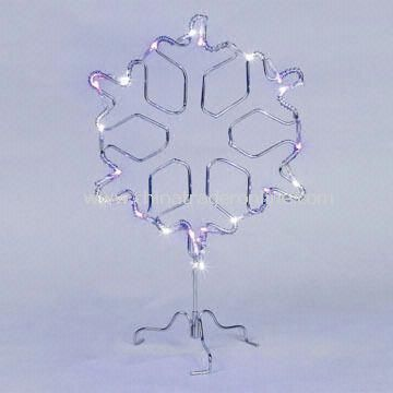 Christmas Light in Snowflake Wire Frame Design, with Purple LEDs