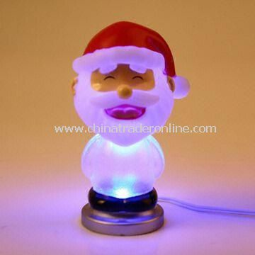 Christmas Santa Claus Design USB Light with 7-color LED glowing from China