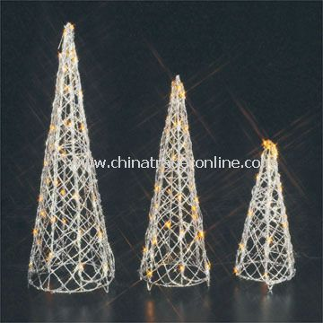 Cone-shaped Lights, Measuring 41 x 18 x 18cm, Suitable for Christmas Decorations