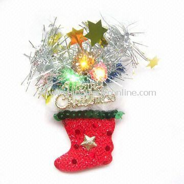 LED Flashing Christmas Pin in Fantastic Design from China