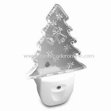 LED Night Light, 1LED, Christmas Tree Shape, Perfect for Decoration from China
