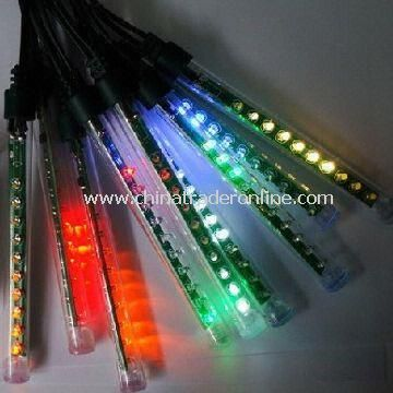 Mini LED Meteor Light, 15cm Length, 12pcs/Set with One Driver, Especially for Christmas Trees