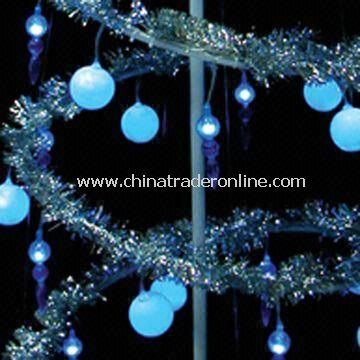 Spiral Christmas Tree Lights, with 50 Blue Lamps and 8m of Cord