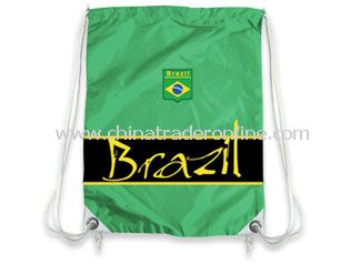 Brazil football supporter drawstring bag